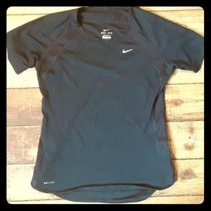 Nike Dri-Fit Athletic Tee Black Small